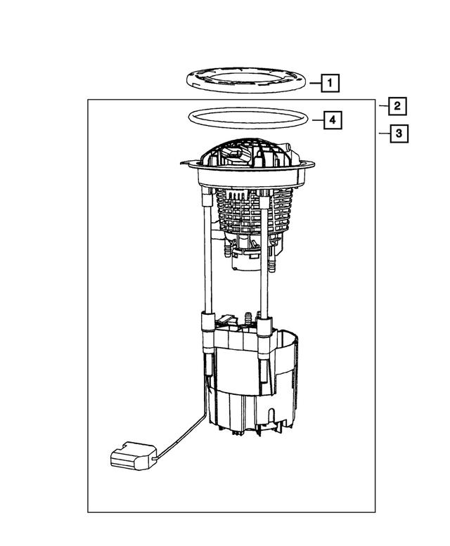 L Mopar 5145571AA Fuel Pump Module Assembly-VIN