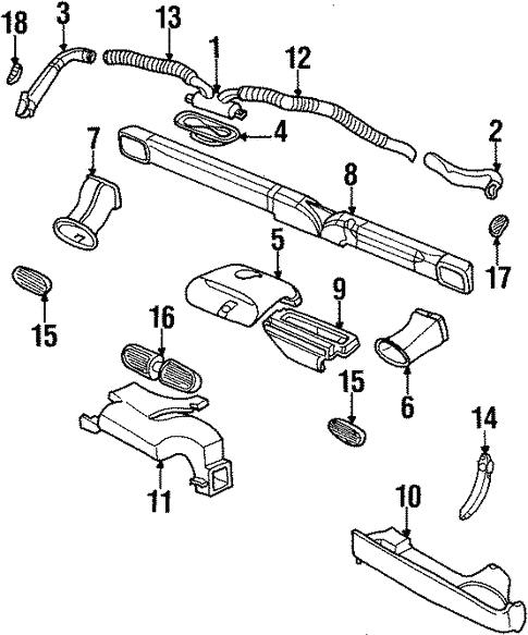 Ducts Hoses For 1996 Chrysler Sebring