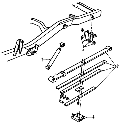 Rear Suspension for 1996 Chevrolet S10 #1