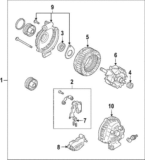Alternator for 2004 Mazda 6 | Mazda Parts Online