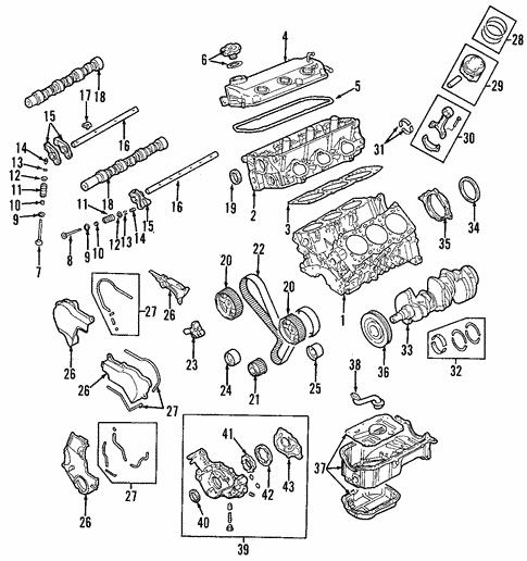 2005 Mitsubishi Endeavor Engine Diagram