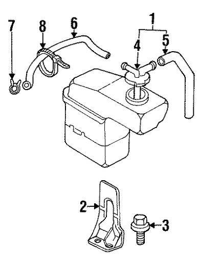 radiator components for 2000 chrysler sebring. Black Bedroom Furniture Sets. Home Design Ideas