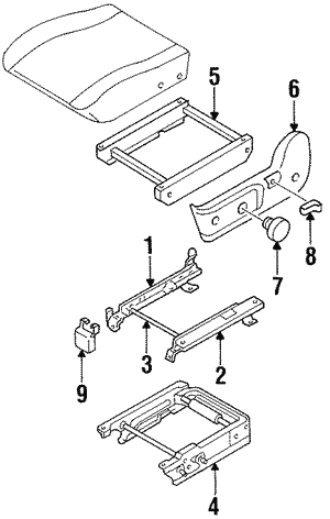 Cover, L Seat Adjuster Bracket