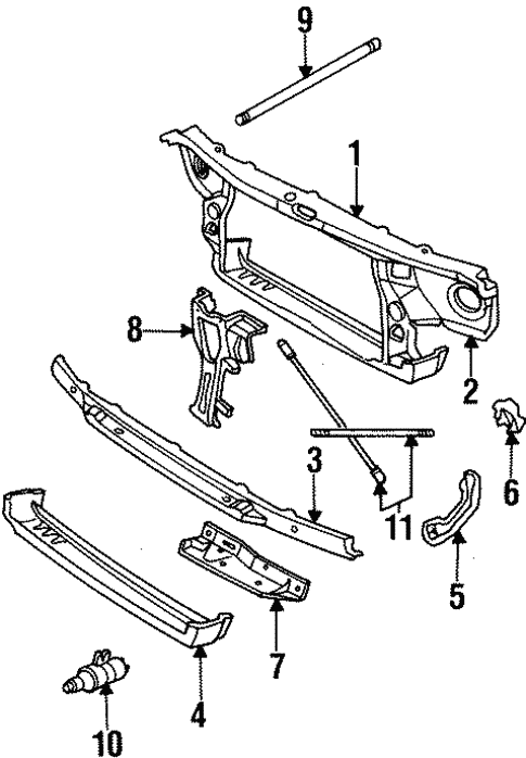 radiator support for 1999 cadillac deville #0