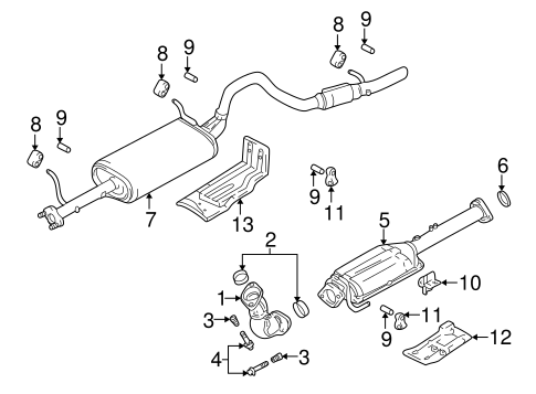 Chevy Tracker Exhaust Diagram