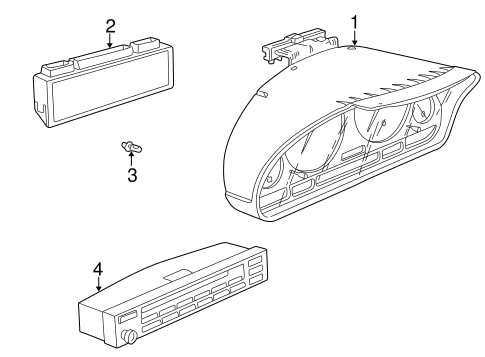 Instrument Gauges For 1998 Bmw 750il