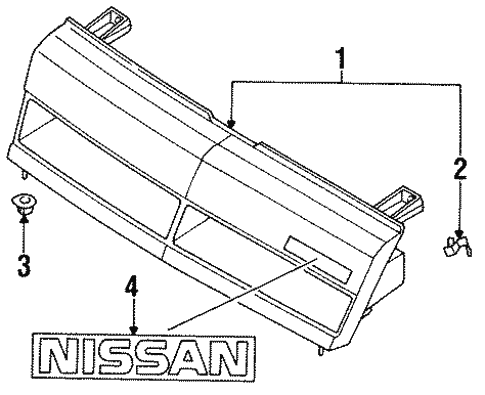 Grille Components For 1987 Nissan Sentra