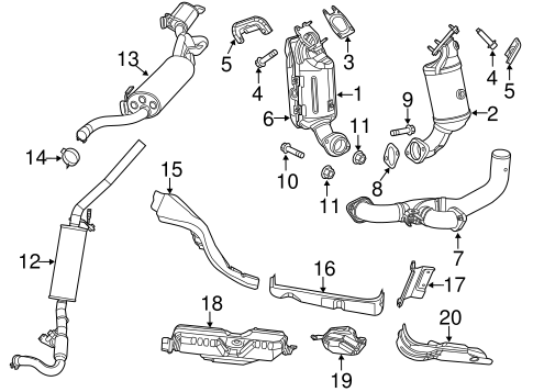 Exhaust Components For 2014 Chrysler Town Amp Country