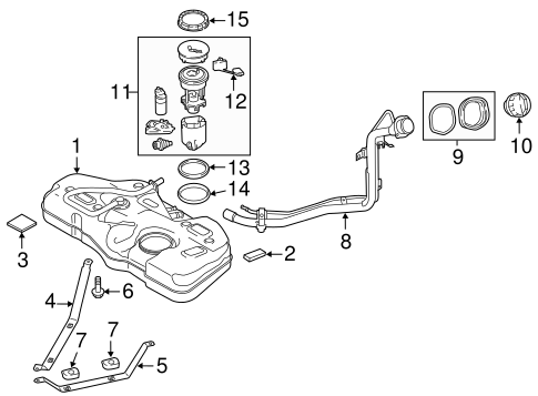 Fuel System Components for 2012 Mazda 2 #0