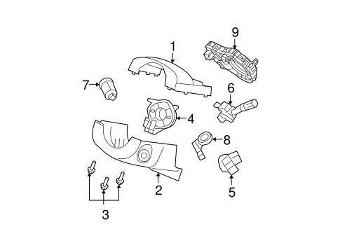 Electrical/Anti-Theft Components for 2009 Ford Edge #1