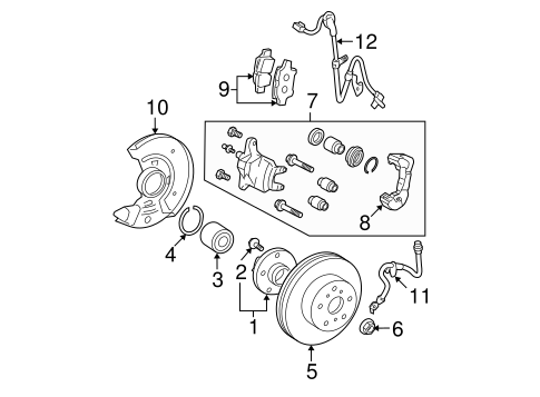 BRAKES/BRAKE COMPONENTS for 2010 Toyota Yaris #1