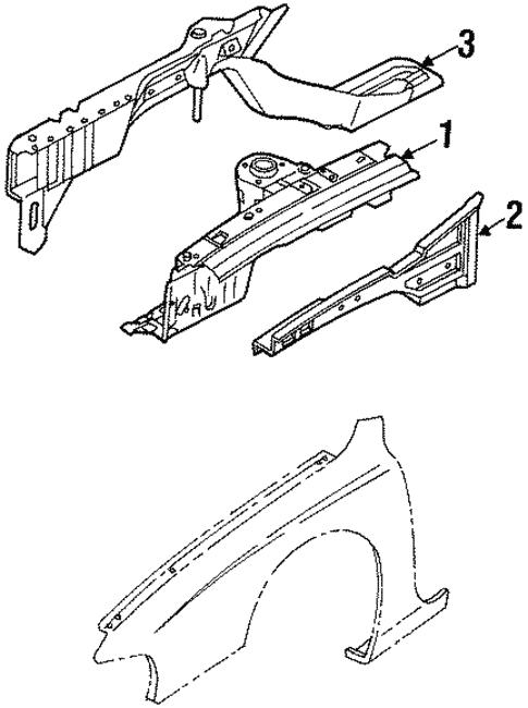 Structural Components Rails For 2001 Kia Sephia