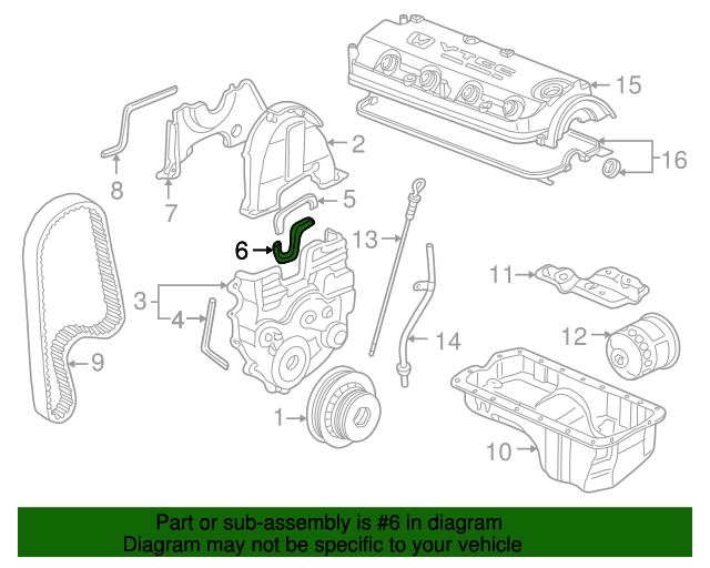 Rubber A, Engine Mounting Bracket Seal