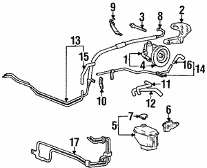 Power Steering Pump[device=moves liquid] Bolt[mates w/nut]