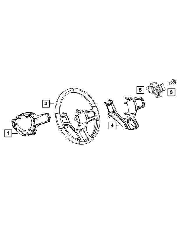 Genuine Chrysler 1XX18SZ6AB Steering Wheel Bezel