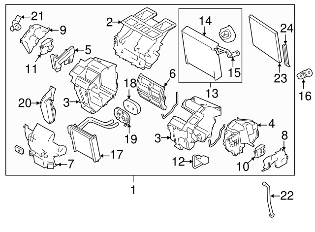 Nissan Cabin Air Filter Part 27277 Ja00c