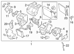 Heater Core Support - Nissan (27148-JN30A)
