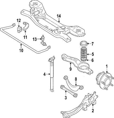 Rear Suspension/Rear Suspension for 2007 Ford Edge #1