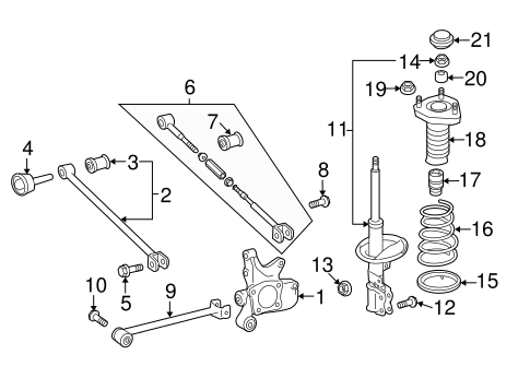 REAR SUSPENSION/REAR SUSPENSION for 2013 Toyota Highlander #2