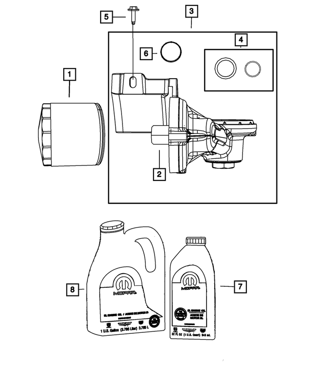 For 2001-2003 Chrysler Voyager Oil Cooler Gasket Mopar 26533BY 2002