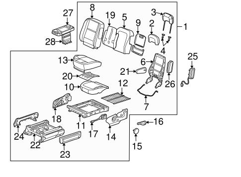 driver seat components for 2006 chevrolet uplander