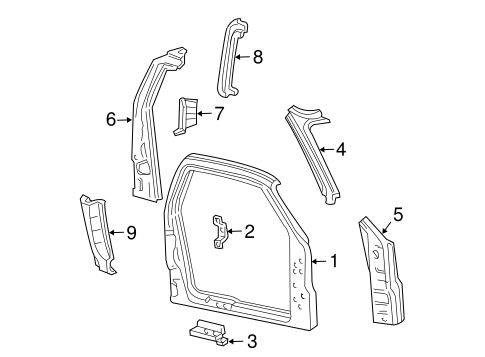 Body/Uniside for 2003 Ford F-150 #1