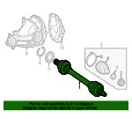 Axle Assembly - Mercedes-Benz (172-350-89-00)