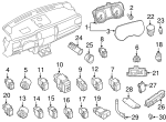 Headlamp Switch - Nissan (25542-EZ00A)