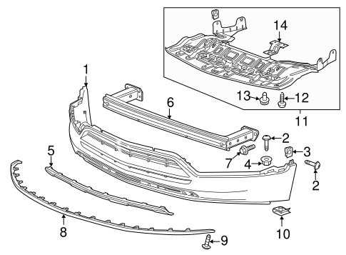 oem 2016 chevrolet trax bumper components front parts. Black Bedroom Furniture Sets. Home Design Ideas