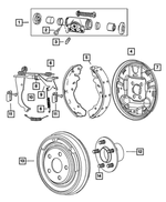 Drum Shoe And Lining Kit - Mopar (5191306AA)