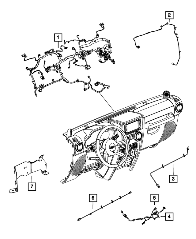 Genuine Chrysler 68186574AA Electrical Instrument Panel Wiring