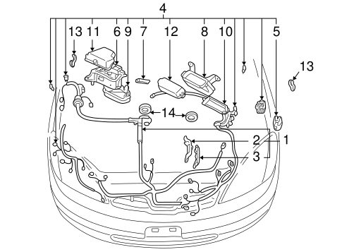 ELECTRICAL/WIRING HARNESS for 2002 Toyota Prius #1