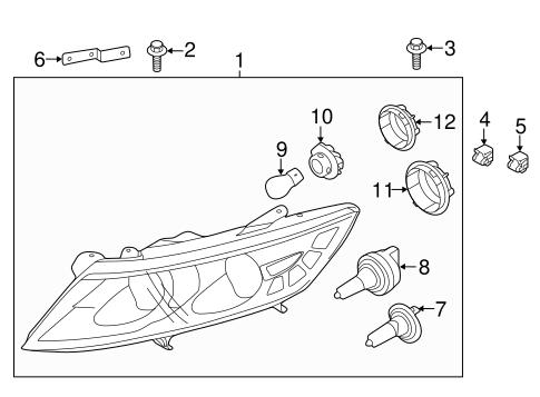 2014 kia optima headlight parts diagram  kia  auto wiring