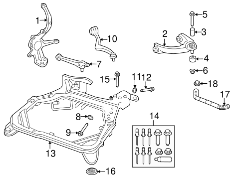 Ford Engine Cradle Repair Kit 6e5z5019a