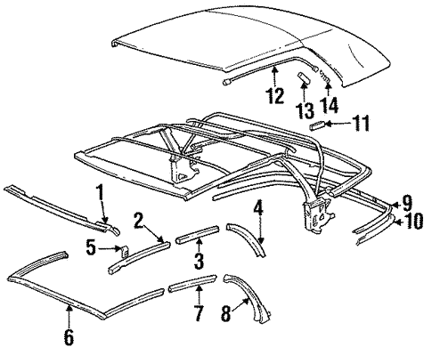 Folding Top for 1993 BMW 325i #2