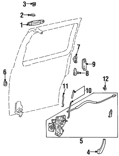 sliding door for 1996 ford windstar