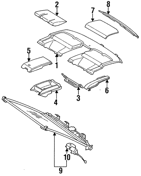 Interior Trim - Rear Body for 1994 Mercedes-Benz S 420 #0