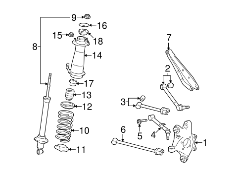 Rear Suspension for 2007 Lexus IS250 #1