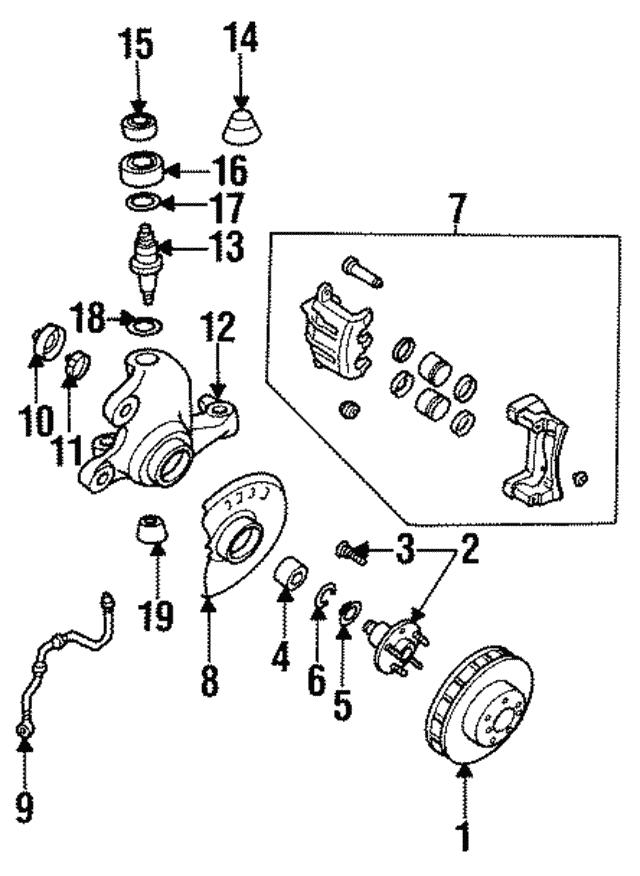 1990 1996 Infiniti Q45 Wheel Bearing Snap Ring 40214 33p00