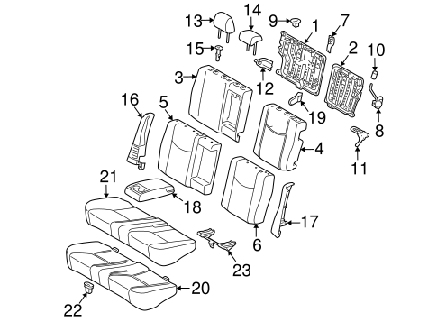 Rear Seat Components For 2010 Toyota Prius