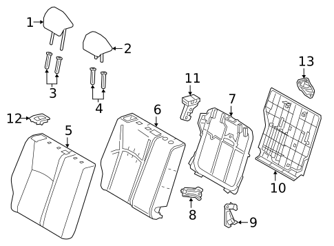Rear Seat Components For 2019 Toyota C Hr
