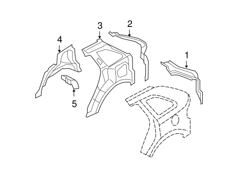 Body/Inner Structure for 2007 Ford Edge #1