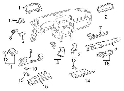 Instrument Panel Components For 2013 Lexus Ls460