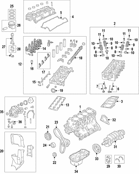 Engine Parts For 2015 Fiat 500L