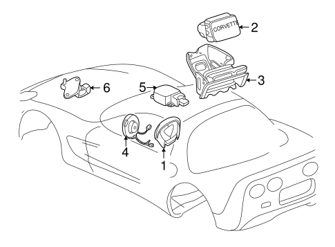 Air Bag Components For 1999 Chevrolet Corvette
