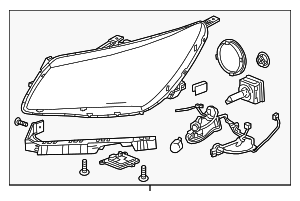 Headlamp Assembly - GM (26672546)
