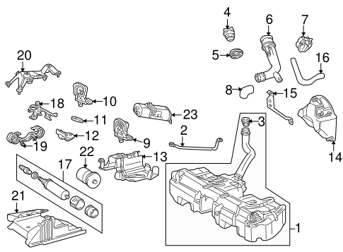 Fuel System Components for 1994 Mercedes-Benz C 280 #0