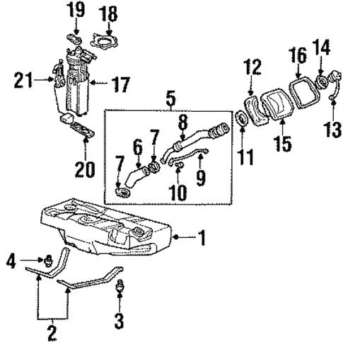 Oem 2001 Oldsmobile Aurora Fuel System Components Parts