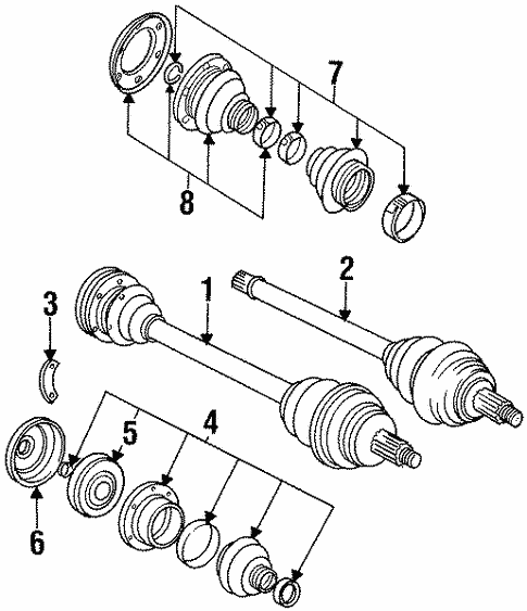 Drive Axles For 1997 Bmw 318i
