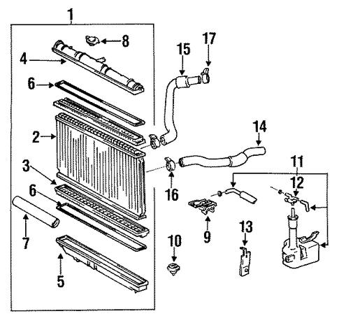 Toyota Radiator Mount Cushion 1653574101